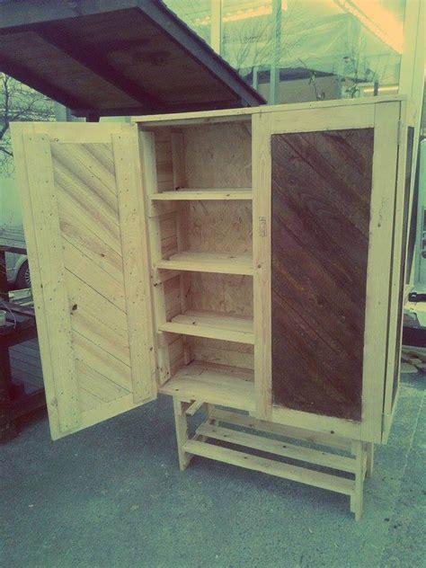 kitchen storage cabinet how to build pallet cabinet for storage easy pallet ideas Diy