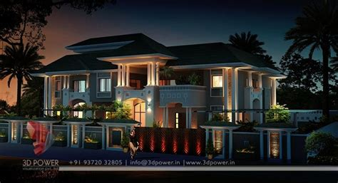 Western View Home Design Ltd by Lavish 3d Modern Bungalow Exterior Rendering And Elevation