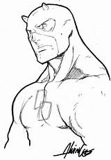 Daredevil Lee Coloring Alvin Marvel Drawing Comic Demolidor Comics Spiderman Desenhos Julius Sketch Template Zimmerman Desenhar sketch template