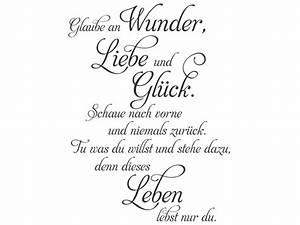Wandtattoo Glaube an Wunder Liebe und Glück Wandtattoos de