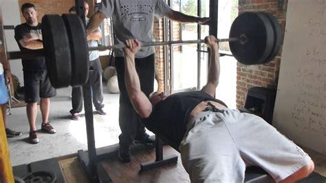 Starting Weight Bench Press by Bench Press At Starting Strength Seminar