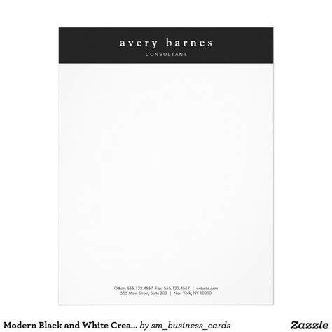 modern black  white creative professional letterhead