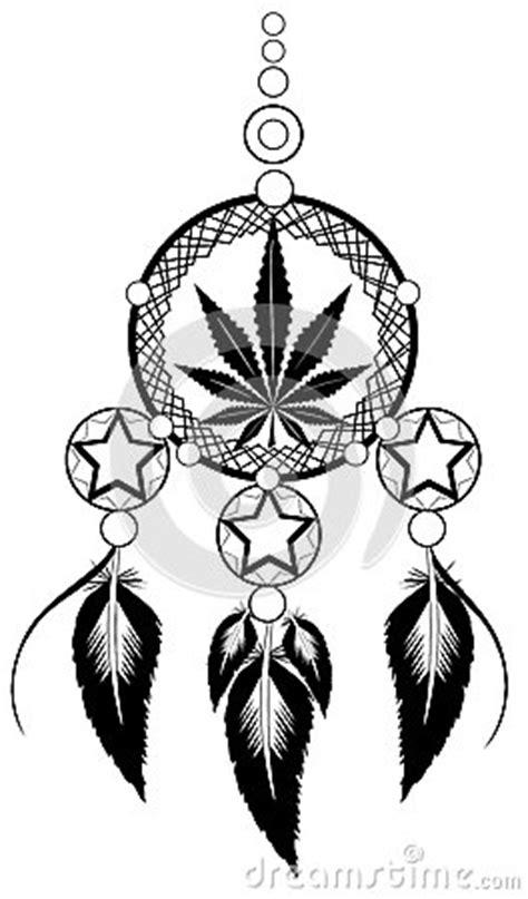 Banishes Thoughts With Marijuana Leaf Stock Vector - Image