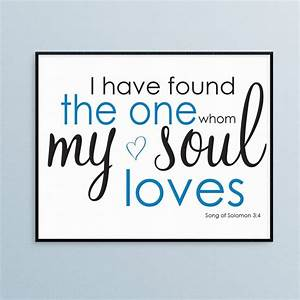 Song of solomon wall art instant printable file by