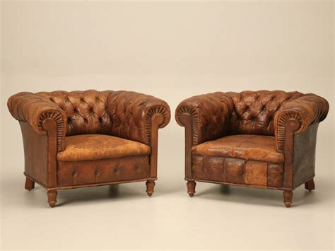 pair chesterfield leather chairs for sale leather club