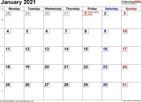 calendar january  uk bank holidays excelpdfword