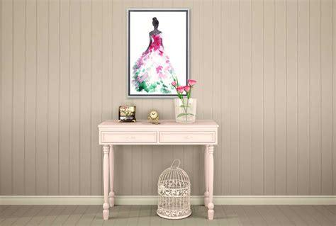 buy glamorous pink dress fashion canvas wall art decor
