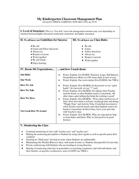 kindergarten classroom management plan cakepinscom