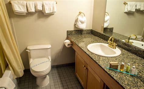 standard bathroom fernie hotel accommodations