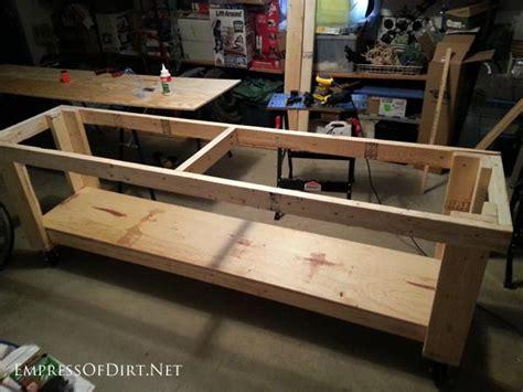 build  diy workbench  wheels empress  dirt