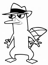 Platypus Perry Agent Coloring Pages Sneaking Printable Print Around Colouring Phineas Ferb Stencil Stencils Drawing Getcoloringpages Colour Supercoloring Clipart Disney sketch template