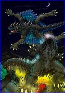 Godzilla Vs Varan by KaijuDuke on DeviantArt