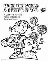 Brownie Coloring Pages Printable Scout Getcolorings sketch template