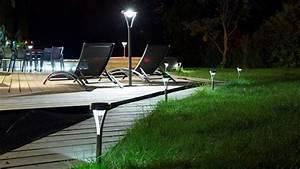 Lampe Exterieur Pour Terrasse : lampe et balise solaire de jardin borne et clairage solaire ext rieur ~ Teatrodelosmanantiales.com Idées de Décoration