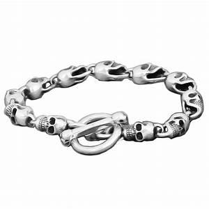 Bracelet En Argent Homme : bracelet argent homme tete de mort fermoir marine bijouxstore webid 447 ~ Carolinahurricanesstore.com Idées de Décoration
