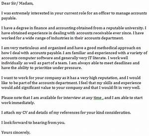 accounts payable cover letter example learnistorg With sample cover letter for accounts payable position