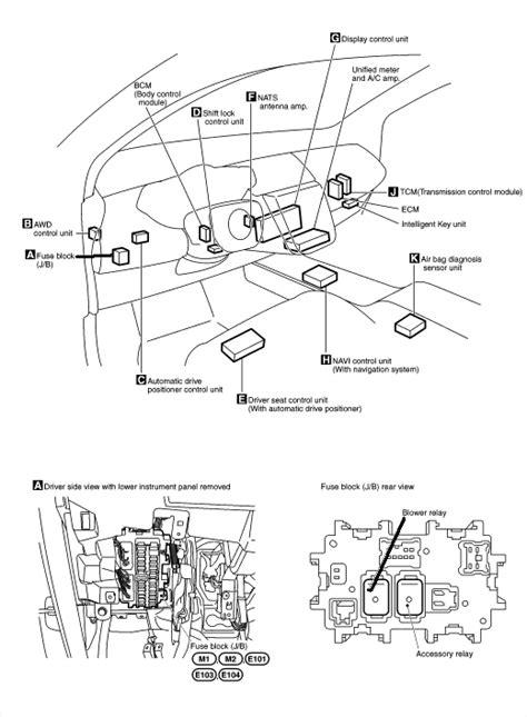 blower motor relay located    murano sl