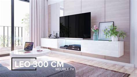 meuble tv suspendu leo jusqu 224 300cm