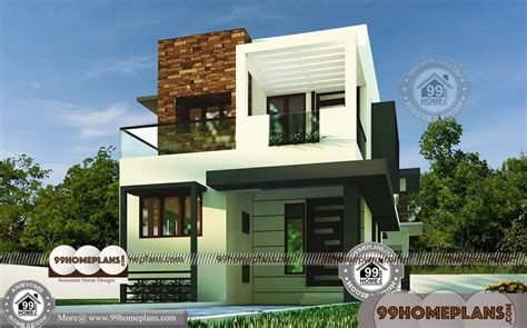 small box type house floor modern city style home plan collections