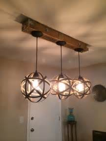 Pallet DIY Mason Jar Light Fixture