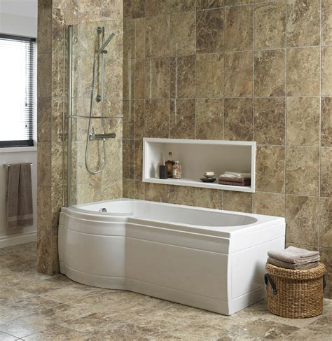 Shower With B by Cooke Lewis Adelphi Curved Bath Screen Departments