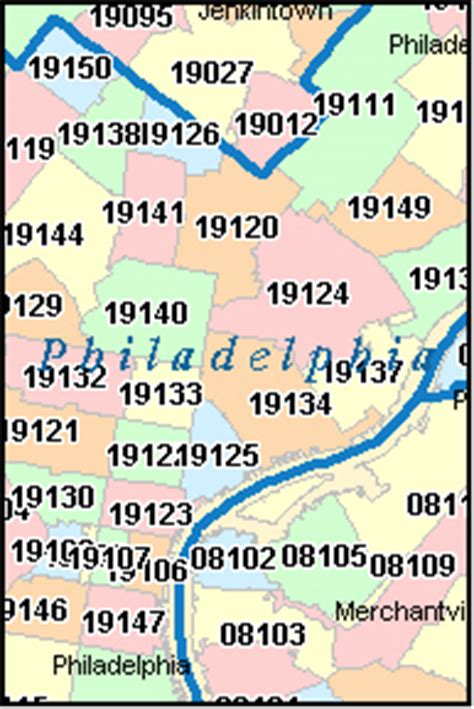 philadelphia zip code map pictures to pin on