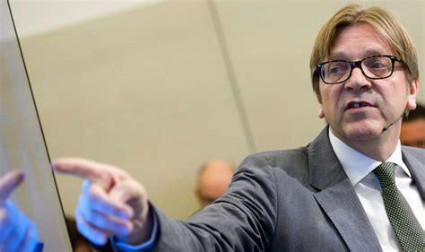 EU masterplan: Guy Verhofstadt claimed Brexit chaos will ...