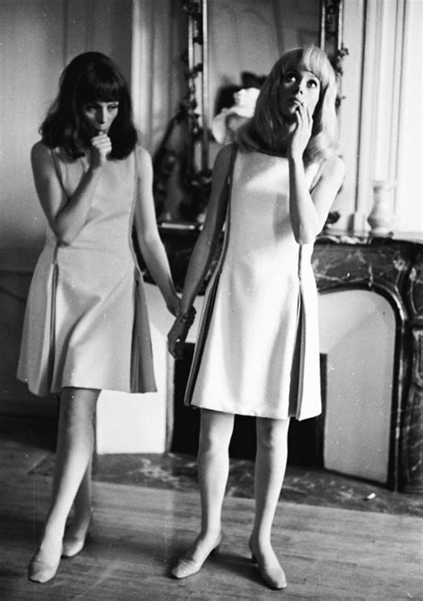 francoise dorleac quotes fran 231 oise dorl 233 ac and catherine deneuve on the set of les
