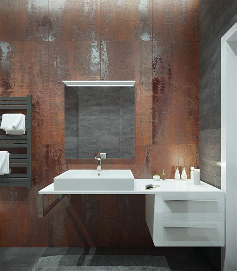Modern Industrial Bathroom Ideas by A Pair Of Modern Homes With Distinctively Bright Color Themes