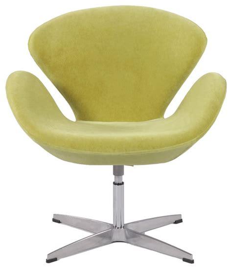 aluminum green velvet modern swivel accent arm chair