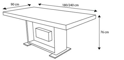 hauteur standard table de cuisine table manger en hauteur