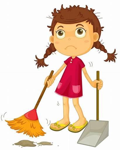Clipart Cleaning Broom Kid Floor Sweeping Cashier