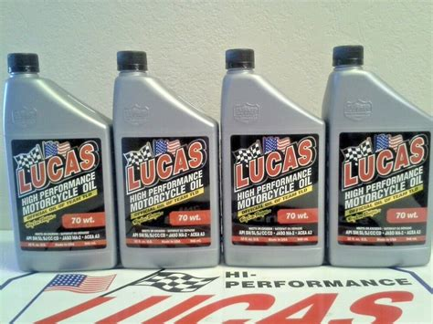 Lucas Motorcycle Oil 70.wt. Non Synthetic # 10714 (4) X 1