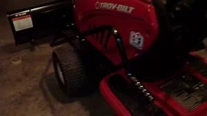 Troy Bilt Intek 17hp Mower With Snow Plow Attachment Mtd