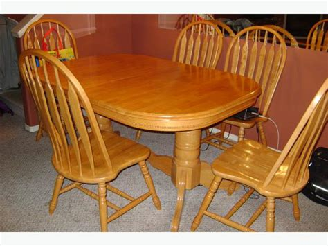 Solid Wooden Oval Dining Table And 6 Chairs Duncan, Cowichan. Home Depot Desk. Small Desk With Drawers Ikea. Metal Roll Top Desk. Locking Drawers