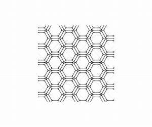 Alien Graphic Design Hexagon Matrix Futuristic Tech Line Dot Grid