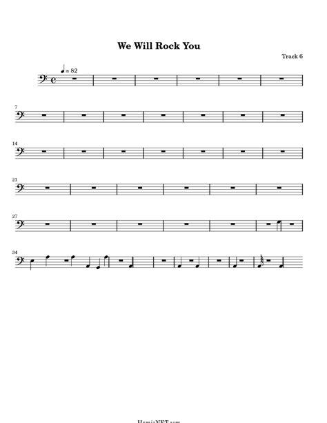 We will we will rock you. We Will Rock You Sheet Music - We Will Rock You Score • HamieNET.com