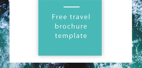 Travel Brochure Template Free by Free Travel Brochure Template Free Indesign Template
