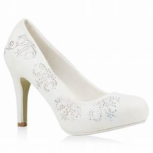 Weiße Schuhe Damen Hochzeit : wei e damen brautschuhe strass pumps hochzeit schuhe stilettos 79803 ebay ~ Eleganceandgraceweddings.com Haus und Dekorationen
