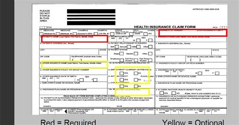 medicare 1500 form cms 1500 image top section cms 1500 claim form and ub 04