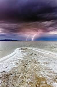 Lightning Over Great Salt Lake