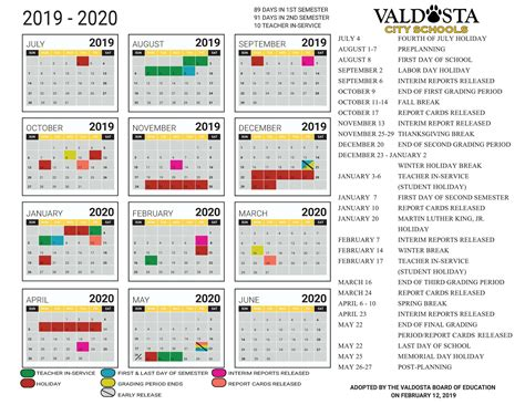 academic calendar student support services valdosta