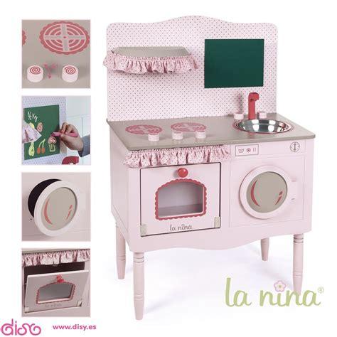 cocina de madera rosa accesorios  munecas la nina