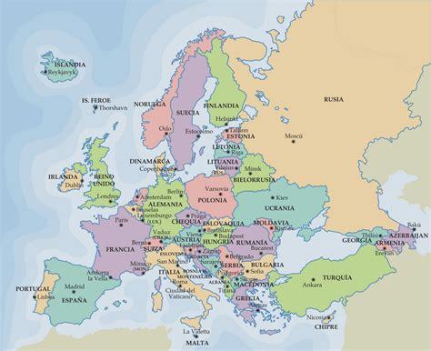Mapa De Europa Para Rellenar