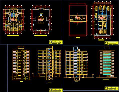 apartments building  autocad  cad
