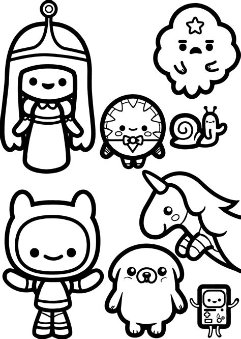 Coloring Time by Adventure Time Chibi Coloring Page Wecoloringpage