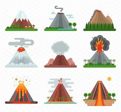 Volcano Vector Illustration Volcanic Clipart Magma Drawing