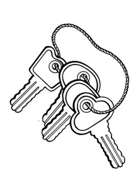 Ausmalbilder Schlüsselbund - Spielsachen Malvorlagen ausmalen