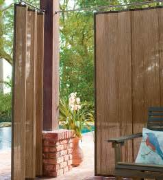 40 quot w x 63 quot l water resistant outdoor bamboo curtain panels