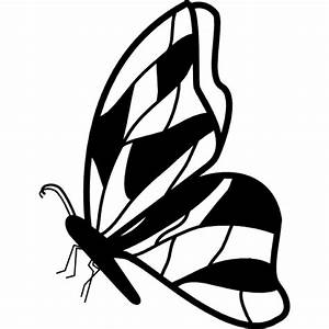 Butterfly side view with irregular wings design Icons ...